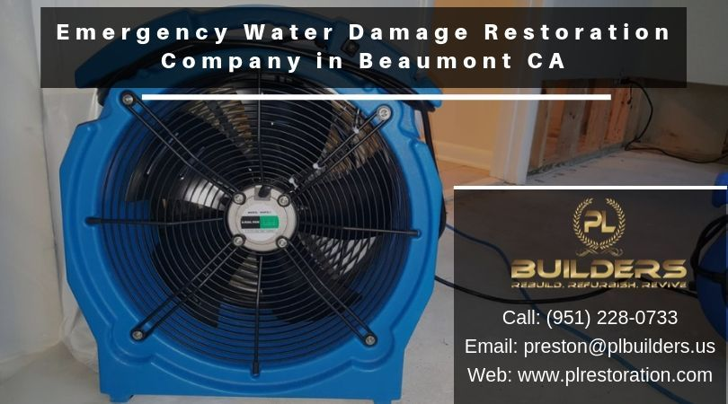 Emergency water damage restoration company in beaumont ca