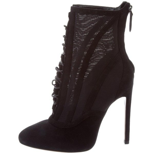Ala?a Leather Lace Up Boots