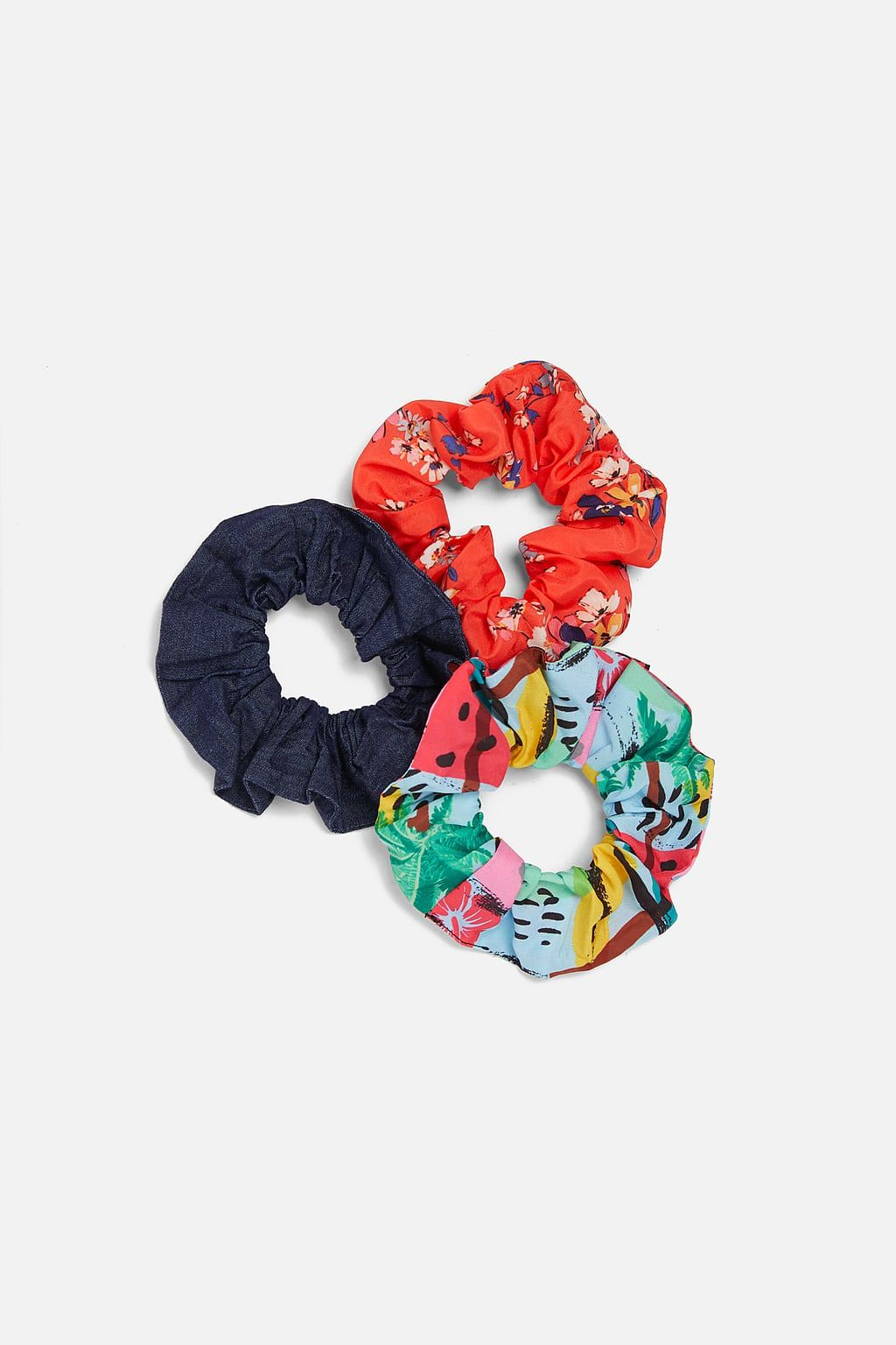 Pack 3 coleteros hair ties scrunchies zara