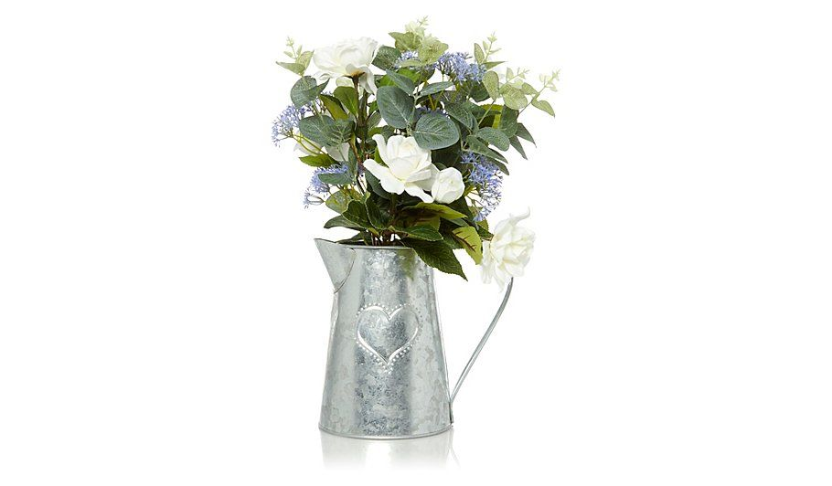 George Home Artifical Flowers In Tin Jug, read reviews and buy ...