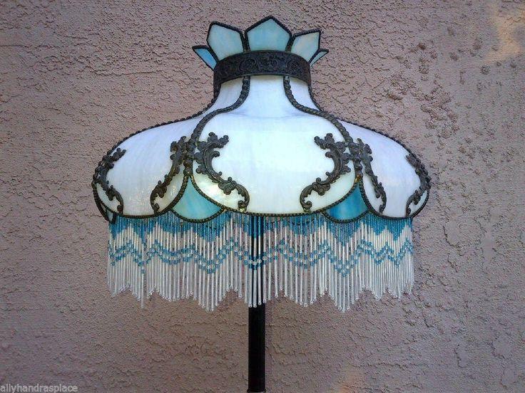 Victorian lamp shade beaded fringe art nouveau victorian victorian lamp shade beaded fringe art nouveau victorian stylized glass floor lamp shade beaded fringe aloadofball Gallery
