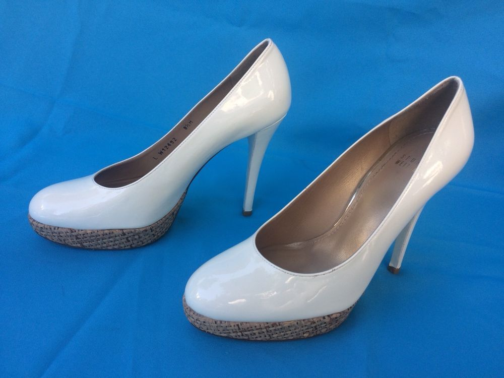 21d34c2a58 White Patent Leather Pumps Platforms size 8.5 M. #fashion #clothing #shoes  #accessories #womensshoes #heels #ad (ebay link)