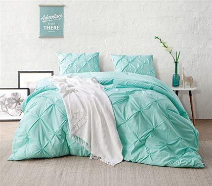 yucca pin tuck twin xl comforter twin xl bedding dorm room decorations dorm essentials - Twin Xl Bedding