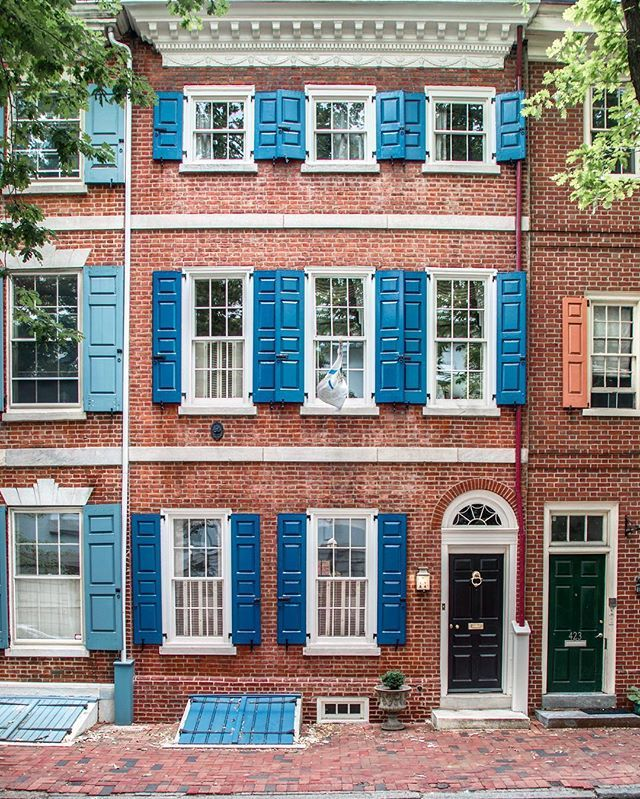 Shutter Love Love All The Historic Facades In Old Philly