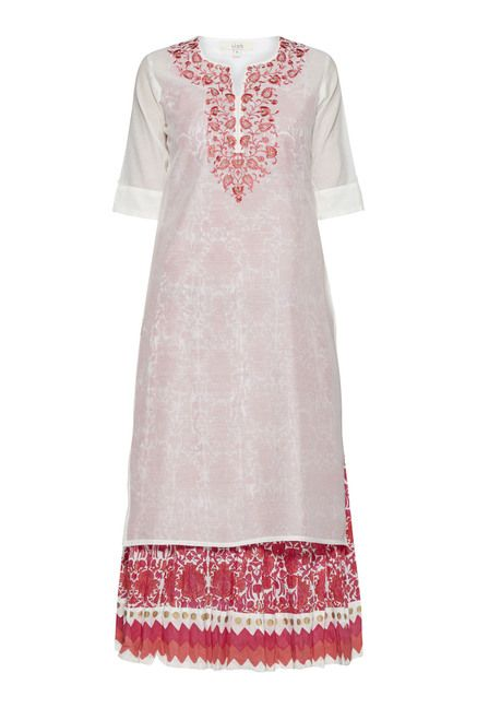 a961ffd94 Vark by Westside Off White Embroidered Kurta | Exclusivity | Off ...