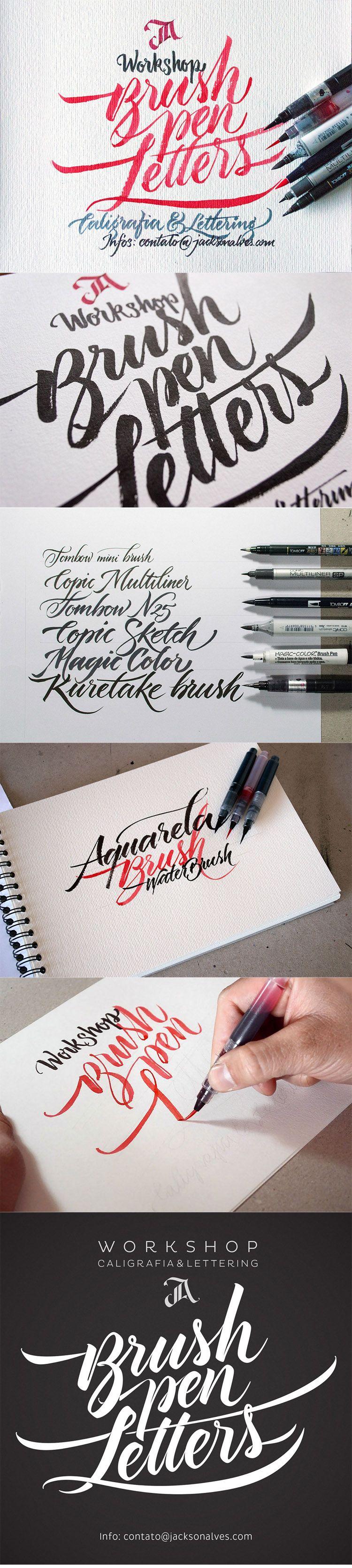 Brush pen letters workshop custom lettering by jackson