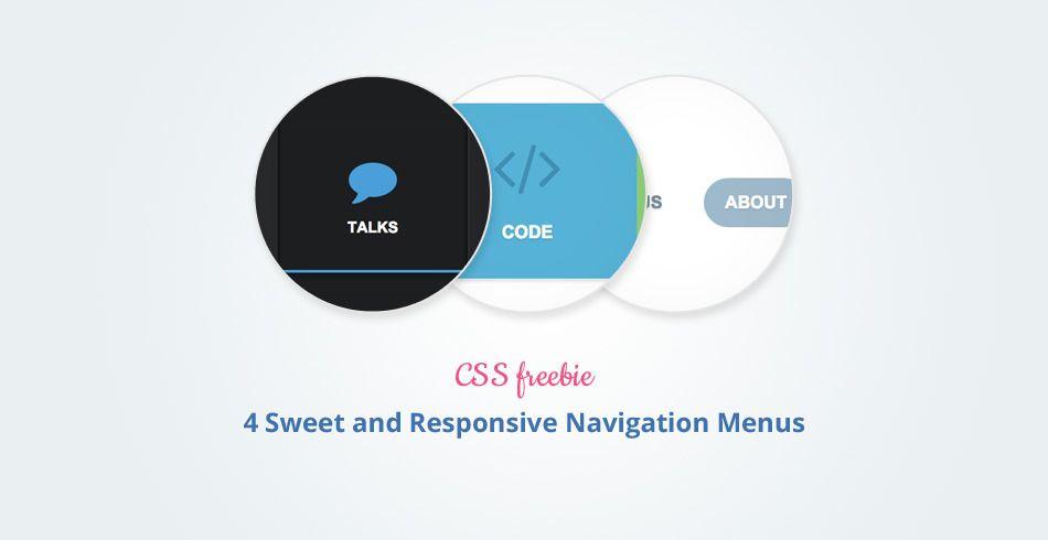 4 Sweet and Responsive Navigation Menus, #Code, #CSS, #CSS3, #Free - best of blueprint css menu