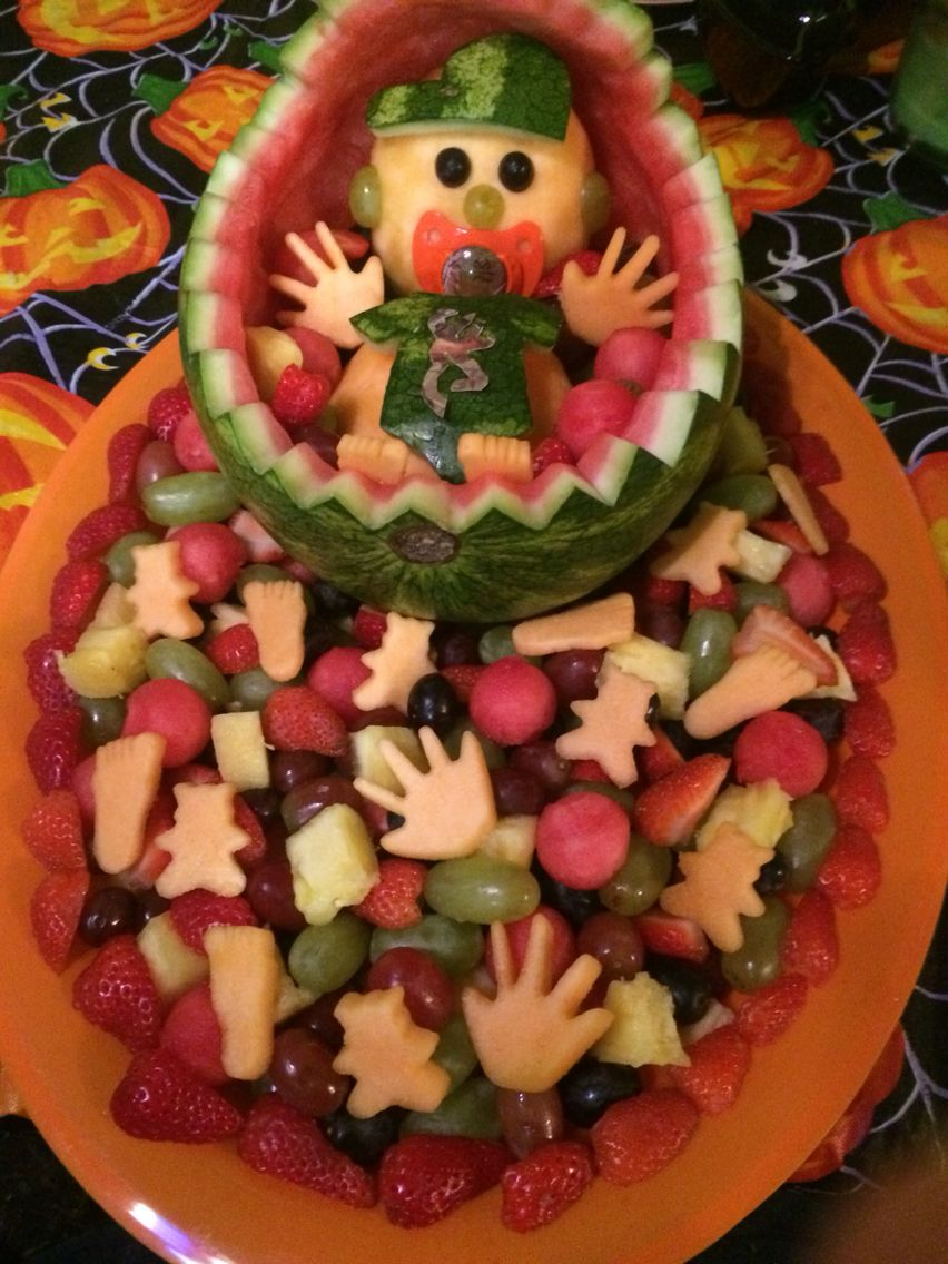 Camo Boy Fruit Tray Baby Shower