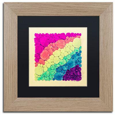 """Trademark Art 'Cottonballs' by Matt Crump Framed Photographic Print Size: 11"""" H x 11"""" W x 0.5"""" D, Matte Color: Black"""