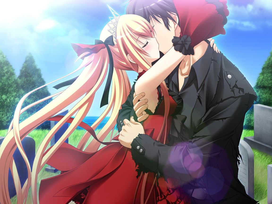 1152x864 anime kiss wallpaper download | anime couples | pinterest