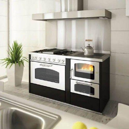 Risultati immagini per cucina a legna mista Legno