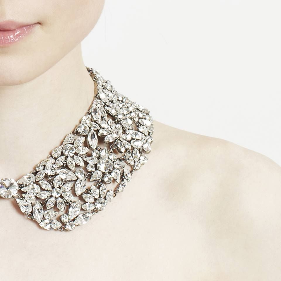 CAROLINA a strassed collar with Swarovski crystals. Hand made in Italy  #annefontaine #collar #crystals #accessories