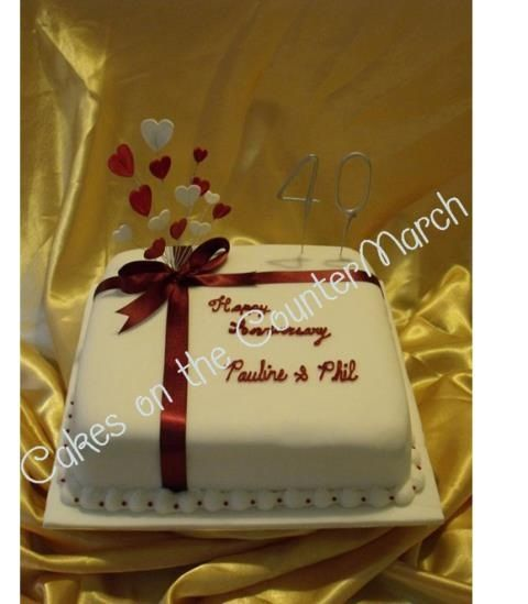 Cake Ideas For Parents Anniversary : Ruby wedding anniversary cake Cake decorating ...