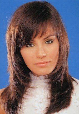 Model de coiffure pour femme cheveux long