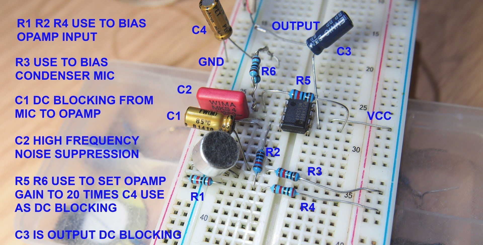 Diy Condensor Microphone Preamp Test And Circuit Diagram Http Amplifier With Noise Suppression