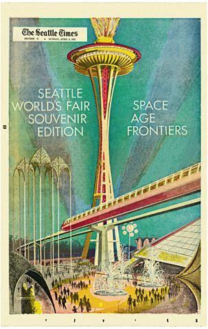 Original 1962 Seattle World/'s Fair Century 21 Exposition Souvenir Brochure Space Needle