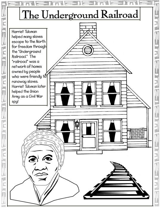 Harriet Tubman Underground Railroad Coloring Page Black History Month Projects Black History Month Crafts Black History Month Activities