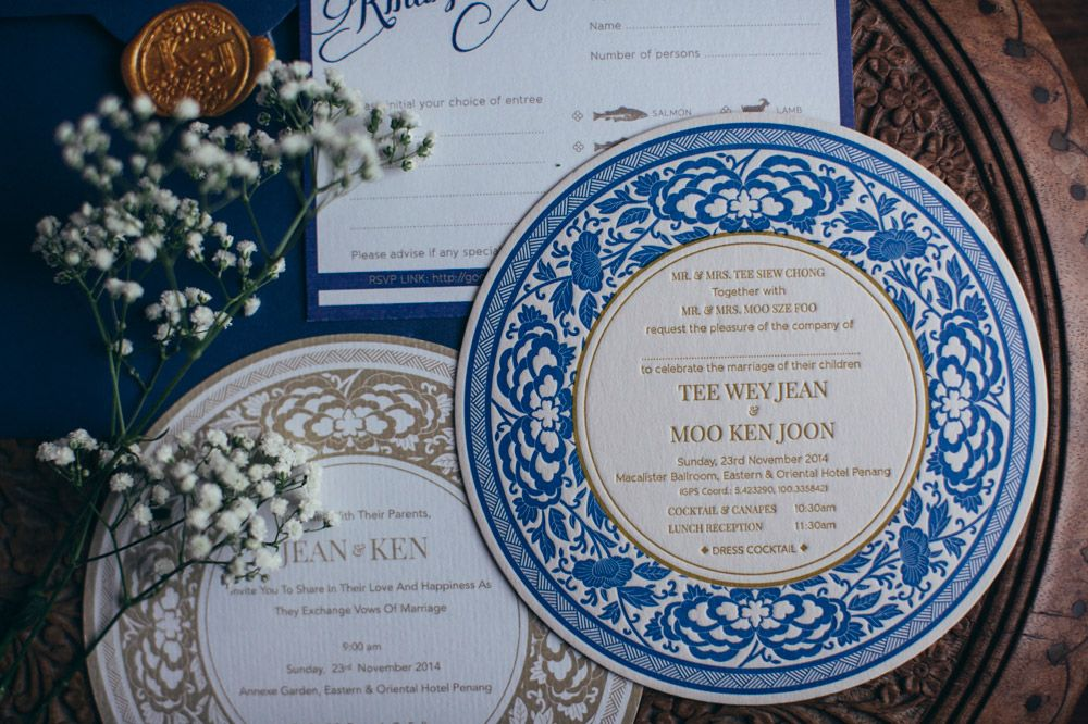 Contemporary Oriental Wedding In E O Hotel Penang Oriental Wedding Letterpress Wedding Wedding Branding