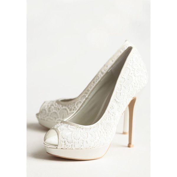 Parisian Summer Lace Heels ($130) ❤ liked on Polyvore
