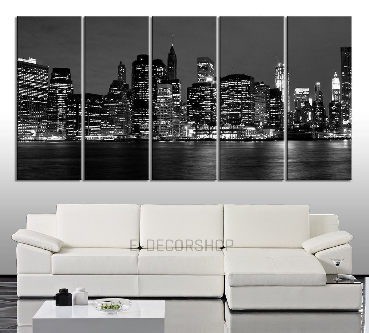 Canvas art new york city skyline printing panel home or office