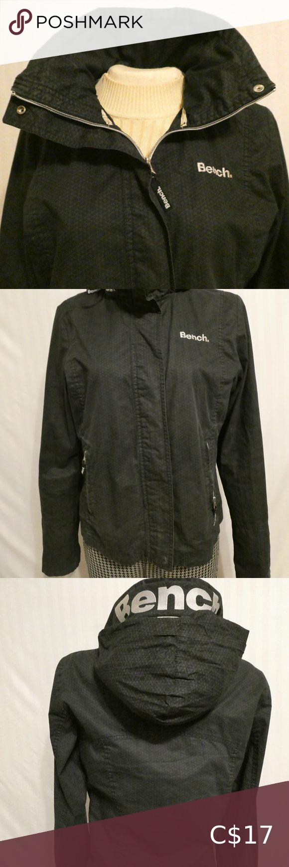 Bench Sport Rain Coat Jacket With Hidden Hood Bench Jackets Jackets Black Hooded Jacket [ 1740 x 580 Pixel ]