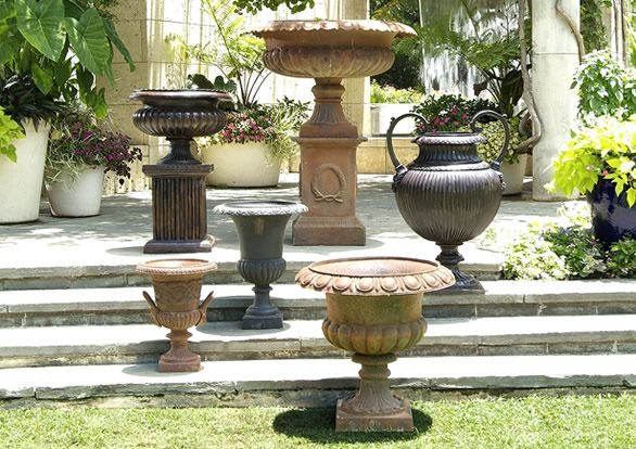 Cast Iron Planters At Jacksons Home And Garden In Dallas.