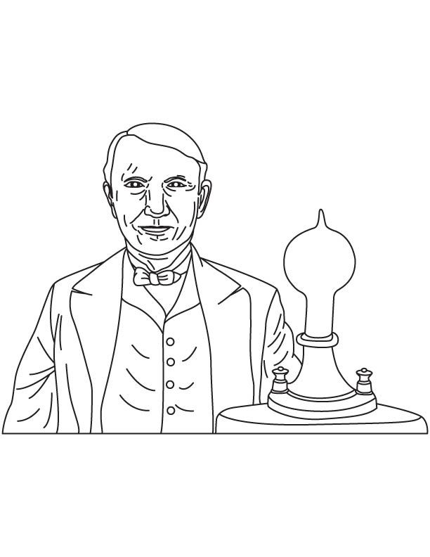 Thomas Alva Edison Coloring Page Coloring Pages Color Coloring