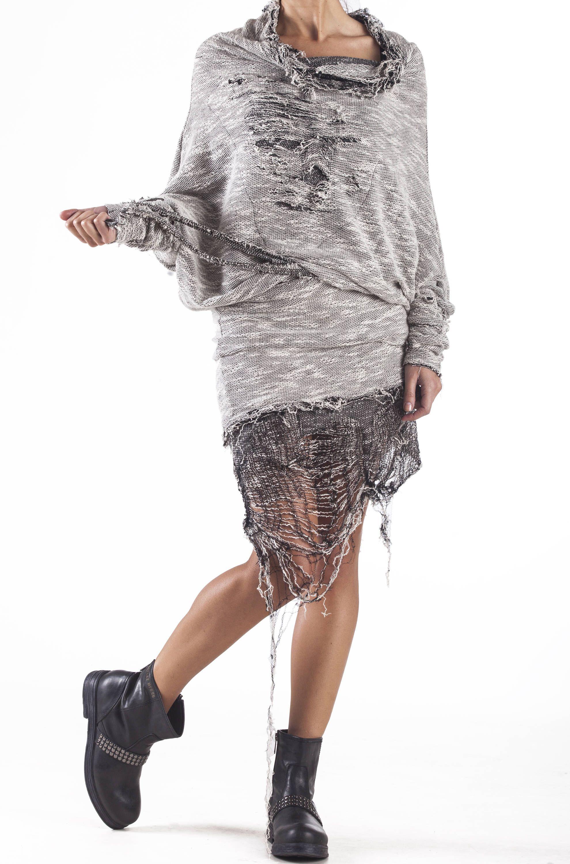Mini sweater dress paradox cotton dress off shoulder dress