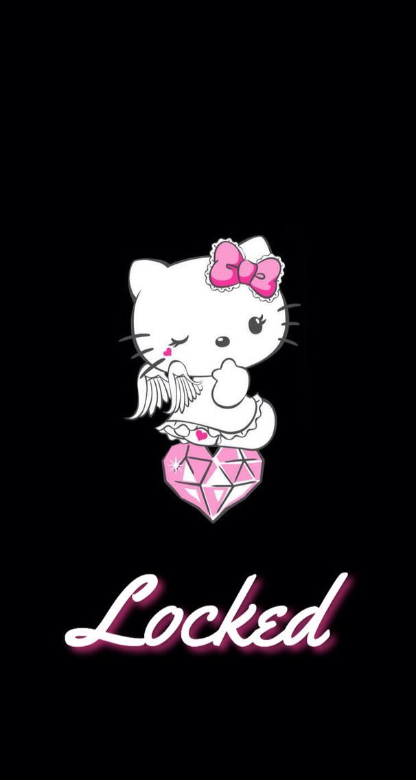 An Amazing Kawaii Hello Kitty Locksreen For Your Phone Kawaii