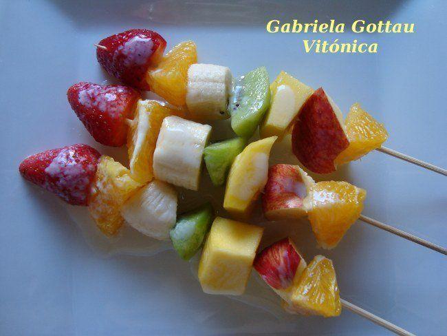 recetas pinchos de frutas