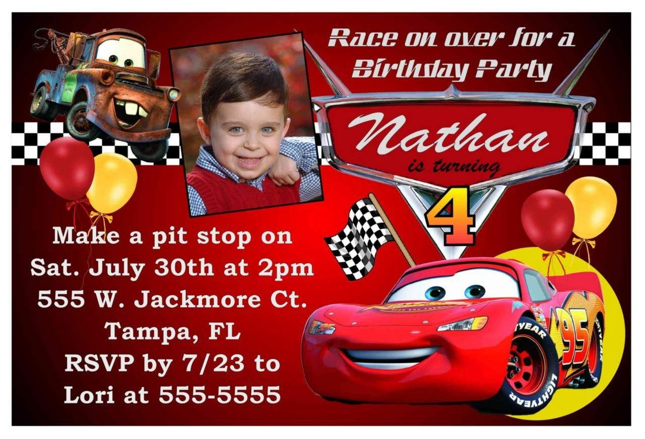 Free Printable Birthday Invitations Cars Theme KIDS BIRTHDAY