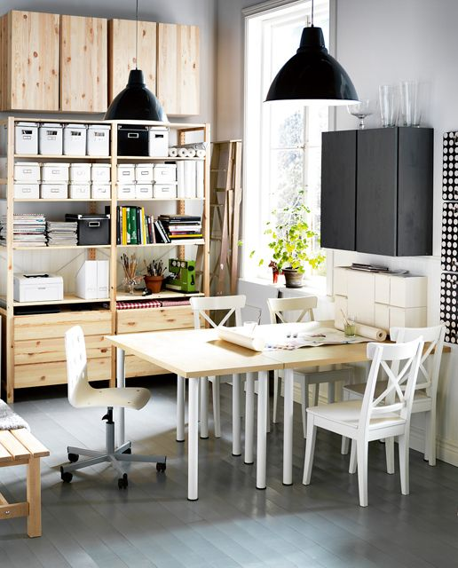 Dining Room Combined With A Home Office