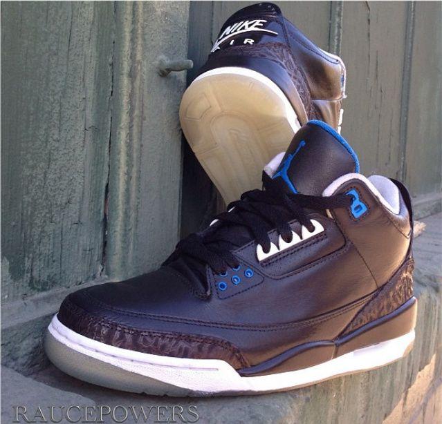 """fb3335227a4bc3 Air Jordan 3 """"Space Jam"""" Custom"""