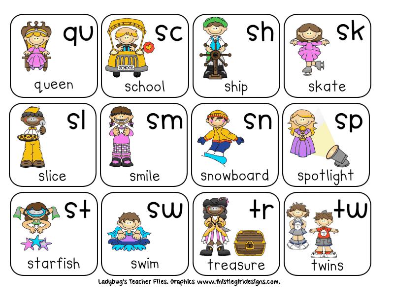Consonant Blends Chart.pdf Ladybug teacher files