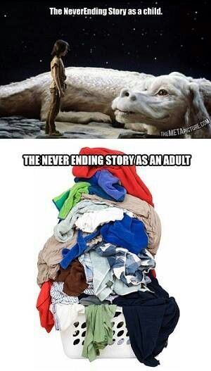Life Without Laundry Is A Fantasy Laugh Funny Funny Pictures