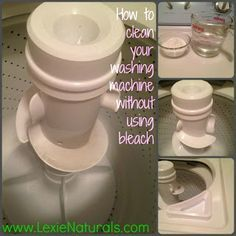 Lexie Naturals: How to Clean Your {Top Loader} Washing Machine Without Using Bleach... And Tips for Keeping it Clean!