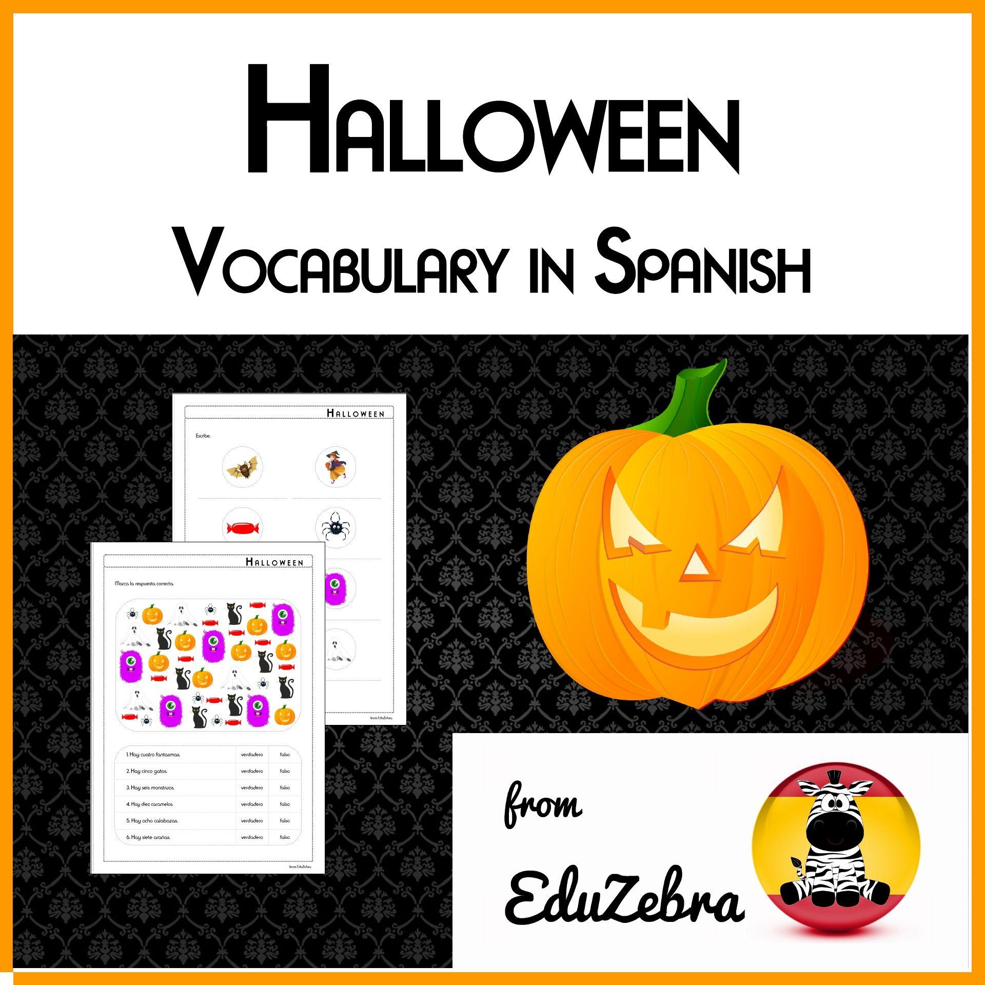 Halloween Vocabulary In Spanish