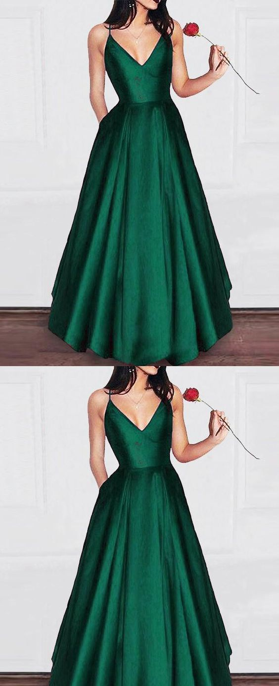 Prom Dresses Ball Gown, Amazing Elegant A Line Satin Prom dress Girls Graduation Gown 2019 Party Dress