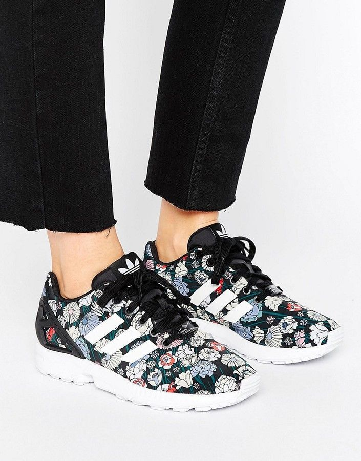 638d5160635b9 ... coupon for adidas adidas zx flux performance floral print sneakers  66bac edaea