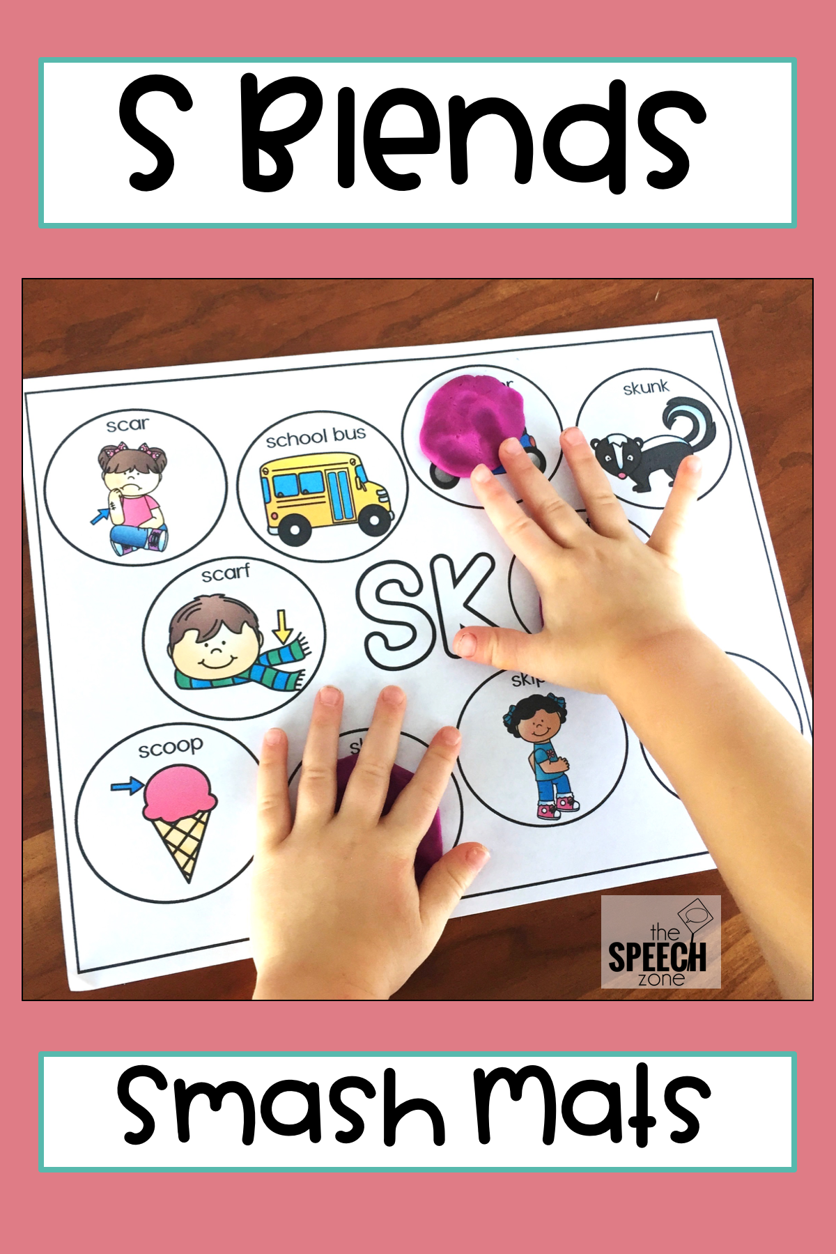 S Blends Word Mats