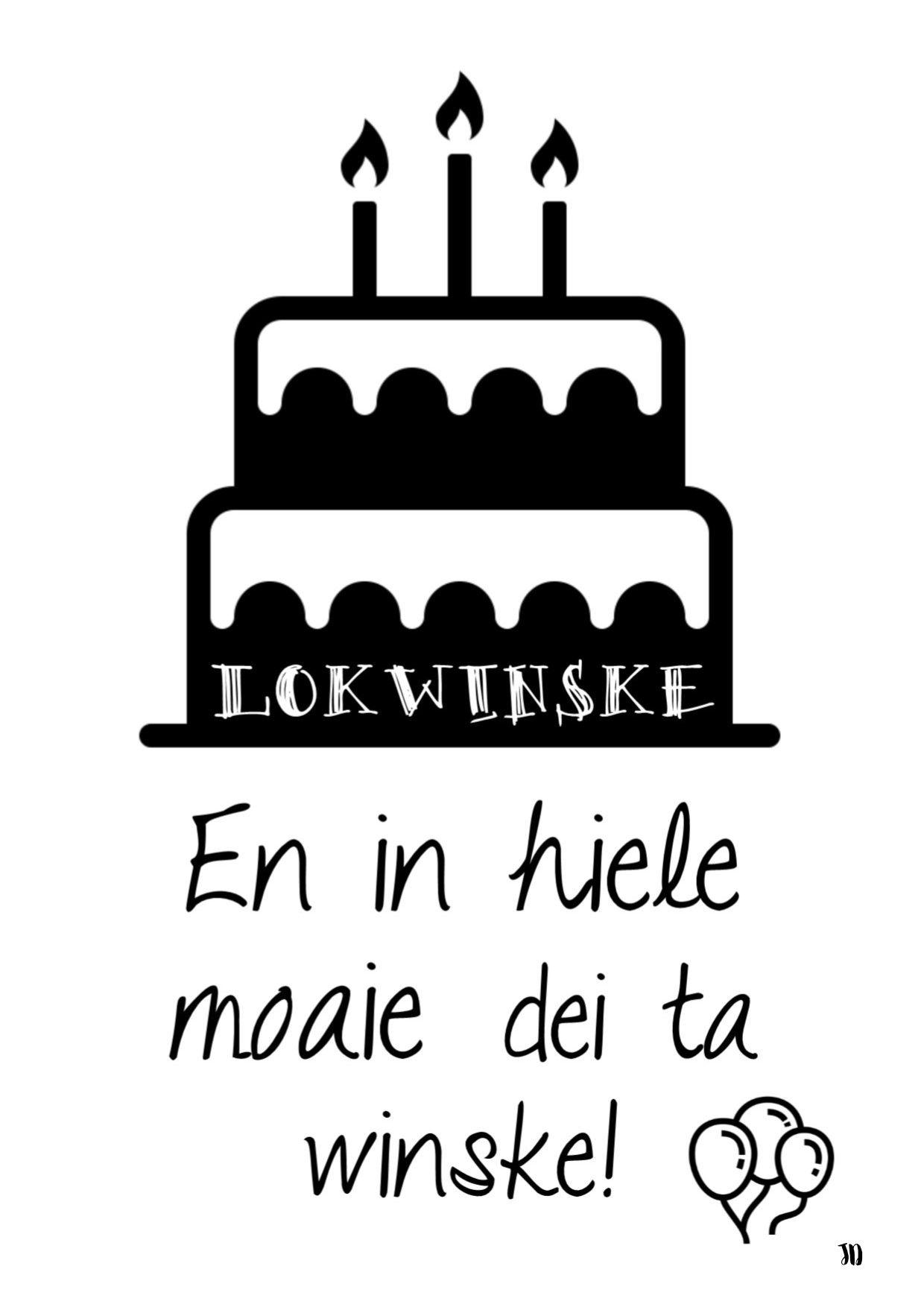 Jierdei lokwinske Frysk kaart printable verjaardag Frysk t