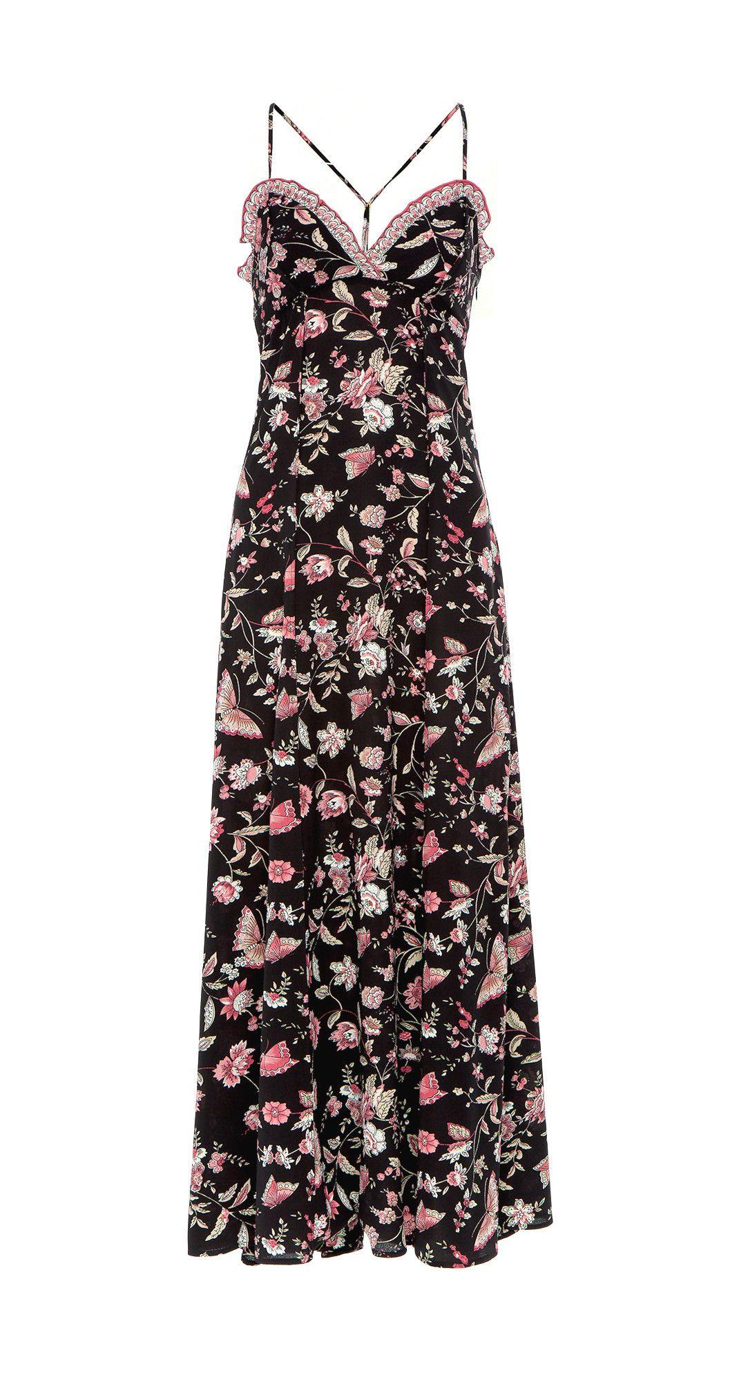 Floral Sweetheart Maxi Dress By Max Studio Maxi Dress Dresses Haute Couture Dresses [ 2000 x 1070 Pixel ]