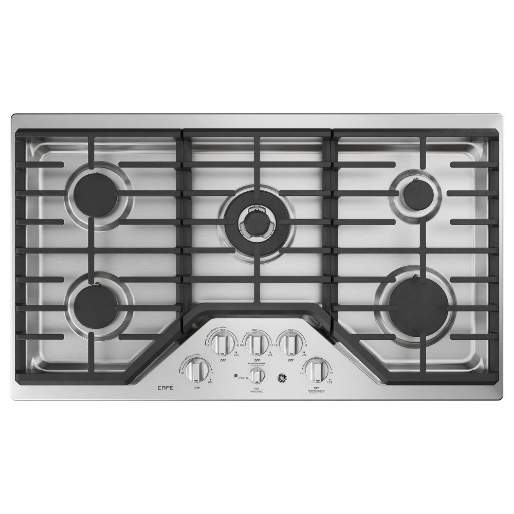 Cafe 36 inch gas cooktop stainless steel with images