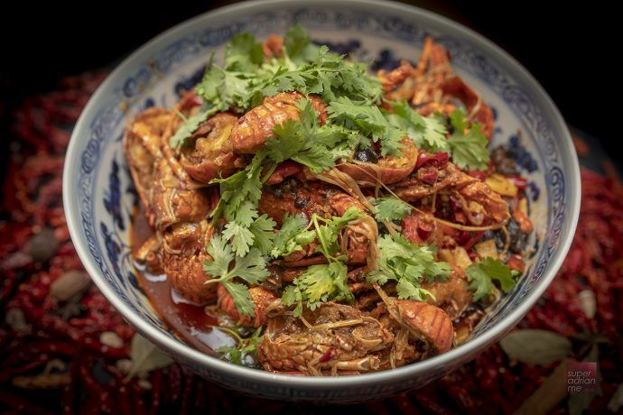 All you can eat Sichuan style Baby Lobsters at Sichuan Dou ...