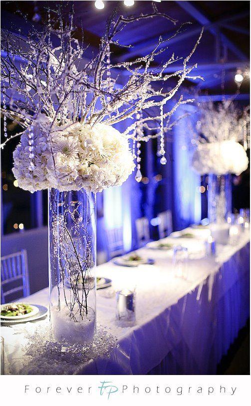 Winter Wonderland Wedding Centerpieces Pictures Bruiloftsideeen Winterbruiloft Winter Bruiloft