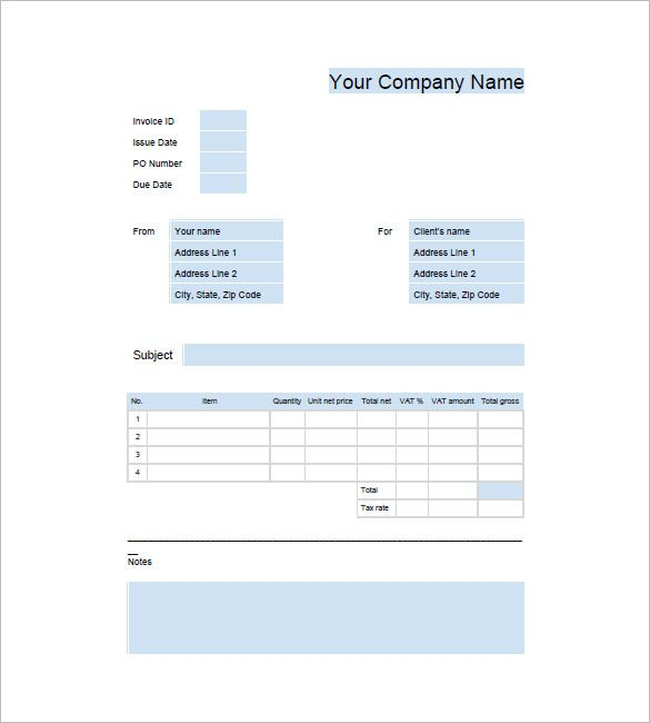 Google Business Invoice Template  Download Invoice Template