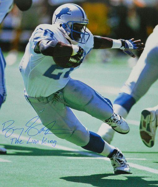 new style 48418 2a58e Barry Sanders signed Detroit Lions action cut 20x24 photo ...