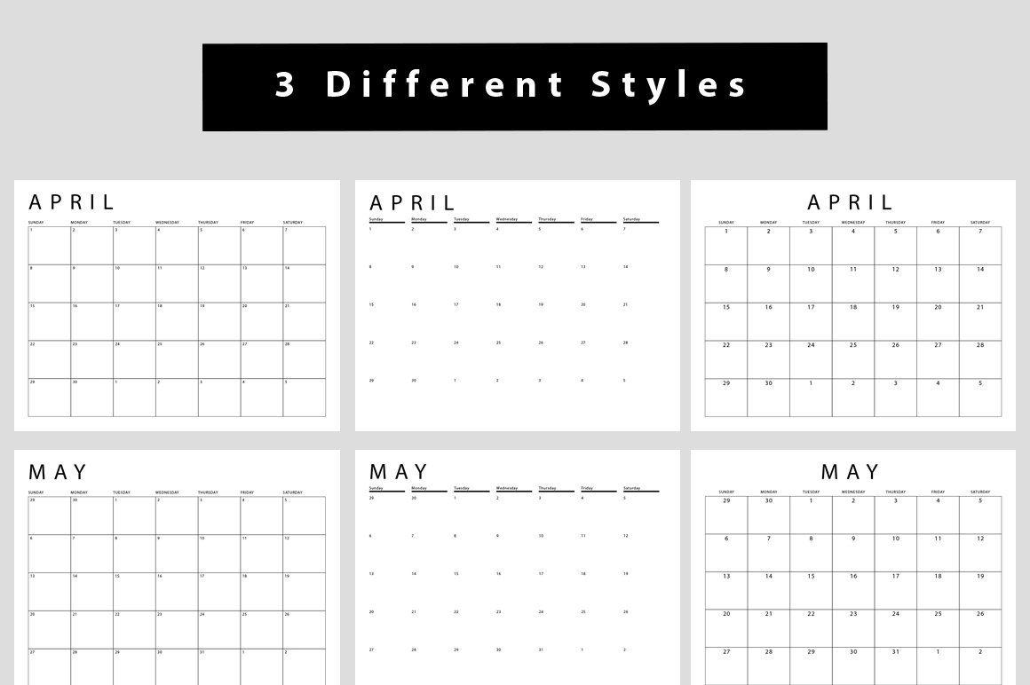 2020 Calendar Templates