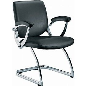 St Moritz Leather Faced Visitor Chair Office Chair Conference