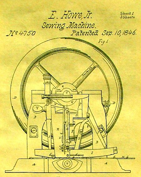ELIAS HOWE INVENTOR OF THE SEWING MACHINE HOWE SEWING Pinterest Simple Inventor Sewing Machine